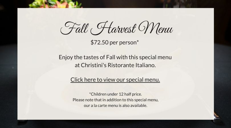 Christini's Fall Harvest Menu
