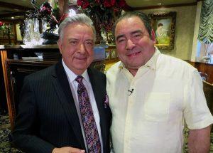 Emeril with Owner Chris Christini at Christini's